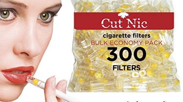 Cut-Nic Disposable Cigarette Filters – Bulk Economy Pack (300 Per Pack)