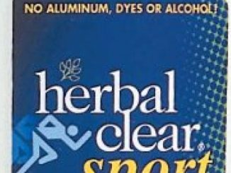 Herbal Clear Sport 24 Hour Natural Sport Deodorant with Tea Tree Oil and Swiss Alps Lichen, 1.8 Ounce (Pack of 3)
