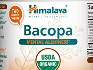 Himalaya Organic Bacopa/Brahmi, 60 Caplets for Mental Alertness, Cognitive Health & Memory Support 750mg
