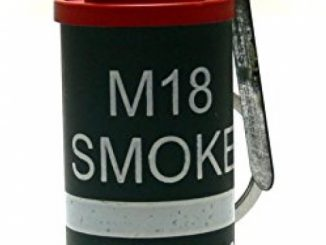 HOOSS SH-822 Smoke Grenade AN-M18 Flint Torch Gas Lighter (Black/Red) L005R