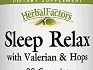 Natural Factors – HerbalFactors Sleep Relax, Natural Support for a Restful Night's Sleep, 90 Capsules