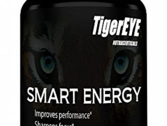 SMART ENERGY: NEW Caffeine with L-Theanine for Powerful Energy, Focus & Clarity- #1 Ranked Cognitive Performance Stack- Proven No Crash or Jitters – All Natural – Caffeine 100mg, L-Theanine 200mg