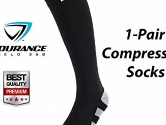 Compression Socks (Stripe Design) – Lightweight Compression Socks for Men & Women – Prevent Shin Splints, Calf & Leg Pain – Great for Workout Recovery – Endurance Shield 360® – Zero Risk Guaranteed!