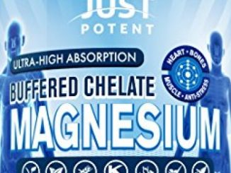 Just Potent Ultra-High Absorption Magnesium Chelate ◘ 100mg Tablets ◘ 300 Tablets ◘ Heart, Bones, Muscle, and Anti-Stress Supplement ◘ Organic, Vegan, and Gluten Free