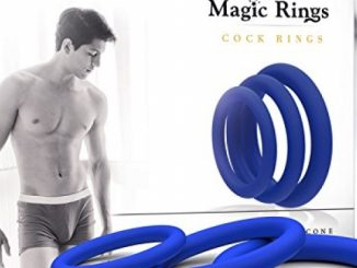Magic Rings Erection Ring Set 3Pcs (Blue) – 100% Medical Silicone Cock rings for Men – Erection Enhancing – For Longer Pleasure – Adult Toys for Sex – Ejaculation Delay Control Prostate Rings