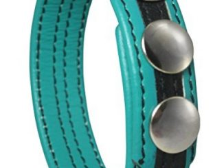 3-Snap Adjustable Leather Erection Ring – Teal