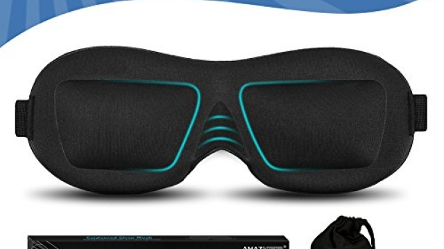 AMAZKER 3D Sleep, Eye Masks for Sleeping with Ear Plug and Carry Pouch Contoured Shape Ultra Lightweight and Comfortable Sleeping Mask for Travel, Nap, Shift Works, Black