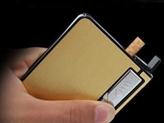 Automatic Ejection Rechargeable Cigarette Case Lighters with LED Flashlight,Windproof Electric Flameless USB Lighter Box Holder,Best Gift for Men Reviews
