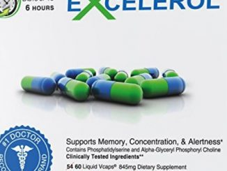Excelerol Memory and Brain Health Supplement Boost Focus Concentration Retention 60 Capsules Pack