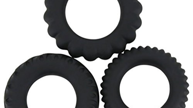 Aopori Premium Stretchy Silicone Cock Rings Set for Men Longer Harder Stronger Erection 3 Rings