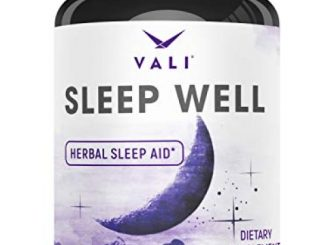 Sleep Well Natural Sleep Aid Supplement – Vegan Non Habit Forming Herbal Sleeping Pills to Calm, Relax Fast, Support Rest & Wake Refreshed. Melatonin, Valerian, Chamomile & More – 60 Veggie Capsules