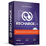 RECHARGE24 PM Sleep AID - Natural Organic Sleeping Pills and Night Time Fat Burner Supplements with Melatonin and Valerian Root - Supports Insomnia Relief Anxiety and Adrenal Fatigue - 30 Day Supply