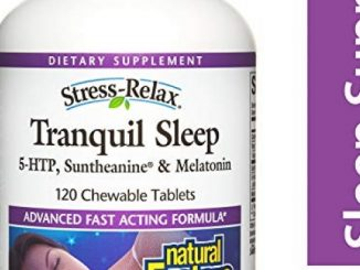Natural Factors – Stress-Relax Tranquil Sleep, 5-HTP, Suntheanine & Melatonin, 120 Chewable Tablets