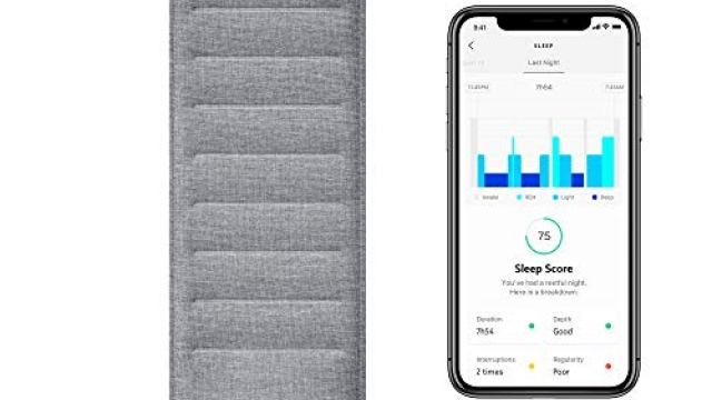 Withings Sleep – Sleep Tracking Pad Under The Mattress with Sleep Cycle Analysis, Sleep Score & Sleep Sensor to Control Light, Music & Room Temperature, Breathing Disturbances – Compatible with Alexa