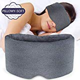 Sysrion Sleep Eye Mask - Ultra Soft Comfortable Sleeping Mask for for Home Sleep Travel Shift Work, Nose Pad Designed Light Blocking Eye Blinder, Fully Adjustable Strap and Skin Friendly