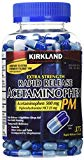 Cos11 Kirkland Signature Extra Strength Rapid Release Acetaminophen 500mg Pm Pain Fever Reducer Nighttime Sleep Aid 375 Gelcaps