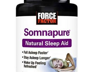 Somnapure Natural Sleep Aid with Melatonin, Valerian, and Chamomile, Non-Habit-Forming Sleeping Pill, Fall Asleep and Stay Asleep, Peak Life, 30 Count (Packaging May Vary)