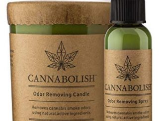Cannabolish Smoke Odor Eliminating Candle, 7 oz, Natural Ingredients + Smoke Odor Spray 2 oz. Bundle